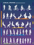 People vector shapes Stock Images