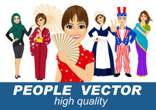 People vector with various characters Stock Image