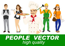 People vector with various characters Royalty Free Stock Image