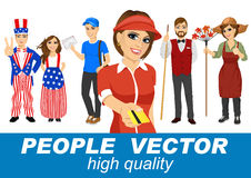 People vector with various characters Stock Photography
