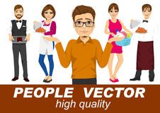 People vector with various characters Royalty Free Stock Photography