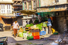 People at the vegetable market in Bikaner Stock Images
