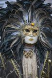 Venice Carnival costume and mask in February, Venice Italy stock photo