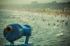 People on Venice Beach California. Watching people from the pier at Venice Beach California Royalty Free Stock Photography