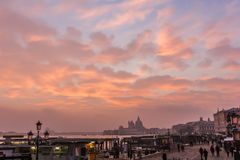 People at Venice in evening. Stock Images
