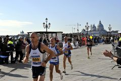 People at the Venice marathon Royalty Free Stock Photo