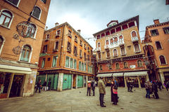 People on Venice streets Royalty Free Stock Photo