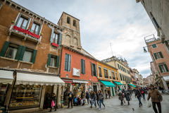 People on Venice streets Royalty Free Stock Photos