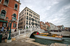 People on Venice streets Royalty Free Stock Image