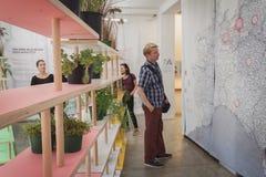 People at Ventura Lambrate space during Milan Design week Royalty Free Stock Photography