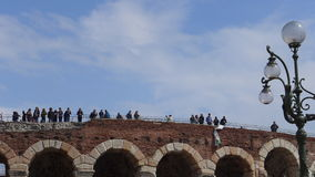 People on Verona Arena Royalty Free Stock Image