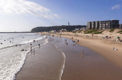 People on Vetch's beach in Durban South Africa Stock Photo