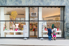 People at Vienna gift shop, Austria Royalty Free Stock Image
