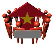 People and Vietnam flag arrow Royalty Free Stock Image