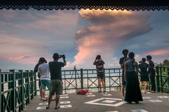 People on view-point in Thailand. Royalty Free Stock Image