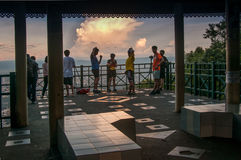 People on view-point in Thailand. Stock Photos