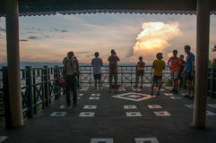 People on view-point in Thailand. Stock Photo