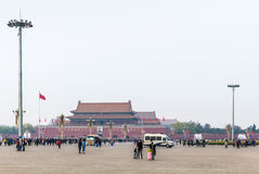 People and view The Tiananmen monument Royalty Free Stock Photo