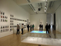 People view Wine Exhibit at the SFMOMA called - How Wine Became Royalty Free Stock Photography