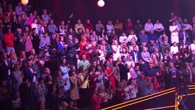 People viewers in a tv studio during tv recording