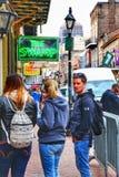 People viewing the bazaar among sidewalks royalty free stock images