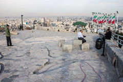 People at a viewpoint in Mashhad Royalty Free Stock Photos
