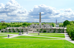 People in Vigeland park Oslo Norway royalty free stock images