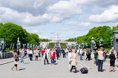People in Vigeland Park in Oslo Stock Images