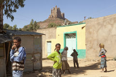 People in a village in Ethiopia Stock Photos
