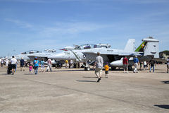 People visit Air Show Stock Images
