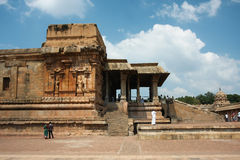People visit ancient the hindu Temple Stock Images
