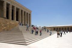People visit Anitkabir in Ankara stock image