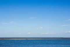 People visit beautiful beach and blue sea Stock Images