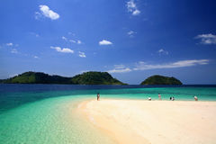 People visit beautiful beach and crystal sea at Koh Khai. Near Lipe island in Satun, Thailand Royalty Free Stock Images