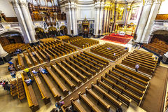 People visit the Berliner Dom from inside Royalty Free Stock Image