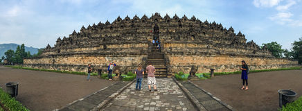 People visit the Borobudur, Indonesia Royalty Free Stock Images