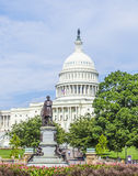 People visit the Capitol in Washington with the statue of James Royalty Free Stock Photos