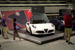 People visit  car exhibition  in Dallas  TX Stock Photography