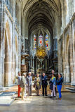 People visit the catholic church of Saint Merri in Paris Stock Images