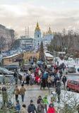 Christmas fair in Kiev, Ukraine. Stock Image
