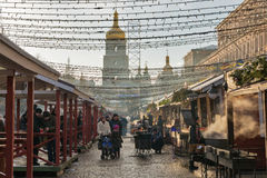 Christmas fair in Kiev, Ukraine. Stock Photos