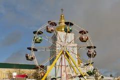 Christmas fair in Kiev, Ukraine. Royalty Free Stock Images