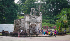 People visit Dutch Fort in Melaka, Malaysia Royalty Free Stock Photo