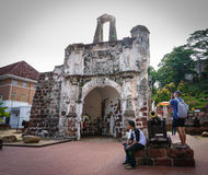 People visit Dutch Fort in Melaka, Malaysia Stock Photography