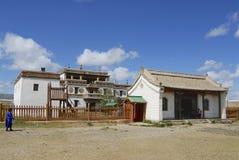 People visit Erdene Zuu monasteryin Kharkhorin, Mongolia. Stock Photo