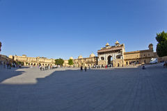 People visit the famous Amer Fort Stock Images