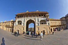 People visit the famous Amer Fort Royalty Free Stock Images