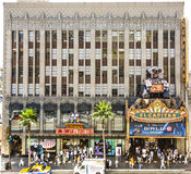 People visit famous El Capitan Theatre in Hollywood Stock Photos