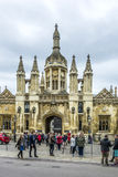 People visit the famous King`s college university of Cambridge Stock Images