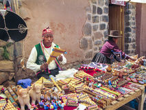 People visit the famous traditional market in Raqch Royalty Free Stock Photography